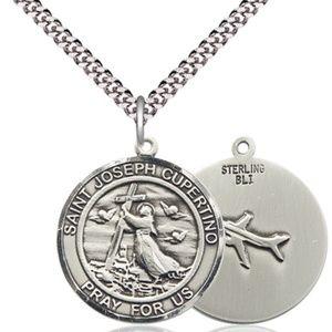 Sterling Silver St Joseph of Cupertino Pendant